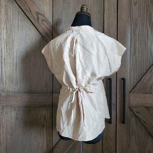 Prada Silk Tie Back Short Sleeve